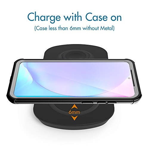 Wireless Charger for Galaxy Phone Watch Buds Charging Station for Samsung Galaxy S21 + Ultra S/Note 20 10 9 8 Galaxy Watch 3 Active and Buds+/Live/Pro - Fast Charge Adapter and USB C Cable Included