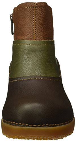 El Naturalista Nc79 Soft Grain Brown-Kaki-Wood/Tricot, Stivali a Gamba Larga Donna, Multicolore (Brown-Kaki-Wood NV4), 42 EU