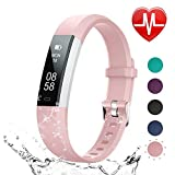 LETSCOM Fitness Tracker HR, Heart Rate Monitor Watch with Sleep Monitor Step Counter
