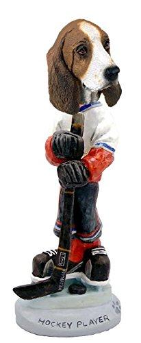 Basset Hound Hockey Player Doogie Collectable (Basset Figurine)