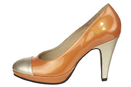 Zapatos de tacón de piel de Best Connections naranja - naranja