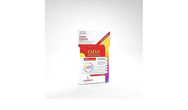 GAMEGEN!C- Matte Catan-Sized Sleeves 56x82mm (50), Color Clear (GGS10073ML): Amazon.es: Juguetes y juegos