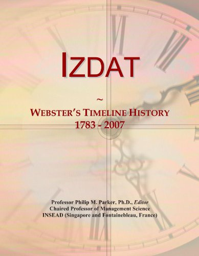 Izdat: Webster's Timeline History, 1783 - 2007