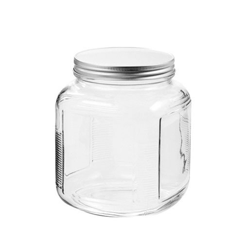 Anchor Hocking 85812R Storage Jar with Screw Cap, 1 Quart