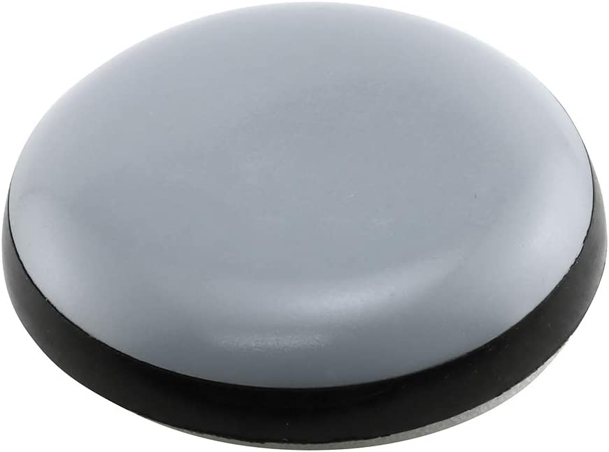 PRIME-LINE Scotch 1 in. Gray/Black Plastic Round Self-Stick Permanent Furniture Sliders (8-Pack) (MP75108)