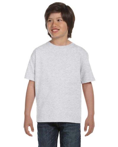 Gildan Dryblend Youth T-Shirt, Ash, Large