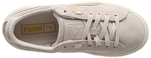 Puma Unisex-Kinder Suede Platform Snk Jr Sneaker Pink (Pearl-Peach Beige)