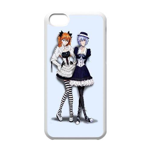 Ayanami And Asuka Neon Genesis Evangelion coque iPhone 5C Housse Blanc téléphone portable couverture de cas coque EBDOBCKCO11770