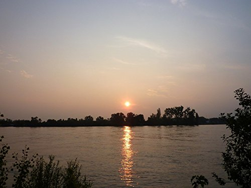 Home Comforts Framed Art for Your Wall Rhine River Sunrise Nierstein Mood Morning 10x13 Frame (Framed River Rhine)