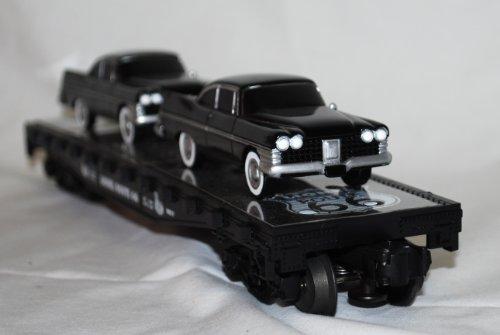 Lionel Trains 6 17557 Route 66 Flat Car W  Sedans Vintage Black Cars Heavy Big Nos