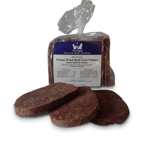 Fortipet-100-Natural-Freeze-Dried-Beef-Liver-Patties-Superfood-Pet-Treats-for-Dogs-and-Cats-1-Lb