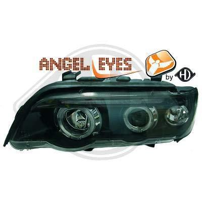 1290480 coppia di fari Angel Eyes nero per X5 E53 dal 1999 al 2003