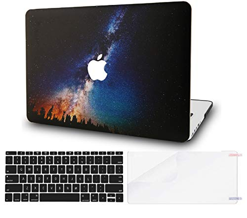 "KECC Laptop Case for MacBook Pro 13"" (2020) w/Keyboard Cover Plastic Hard Shell A2289/A2251 Touch Bar + Screen Protector 3 in 1 Bundle (Night Sky)"