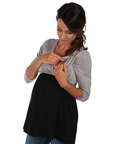 The Essential One - Top / Haut de grossesse et d'allaitement cache-coeur - EOM159