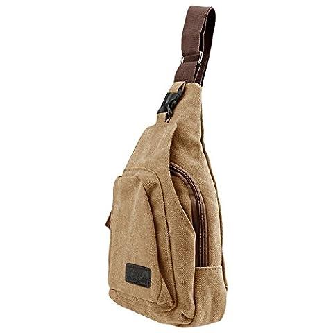 SlickBlue Casual Sling Body Bag Backpack Sport Day Hiking Bag- Medium, (Tela Sling)