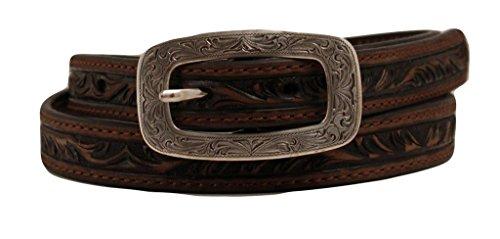 Ariat Women's Embossed Belt Brown Large - Ariat Embossed Belt