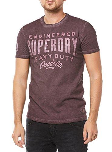 Superdry Camiseta de Men Work Wear over Dyed Fig Marl