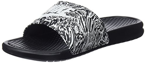 Men's Nike Gymnastics JDI 006 Benassi White Print Shoes Black Black Summit drwqrTInxC