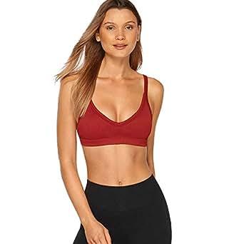 Lorna Jane Women's Extend Yoga Bra, Dark Red, XS