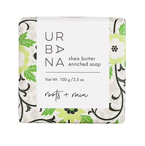 Urbana 75159RR Moisturizing Shea Butter Enriched Bar Soap (3.5oz), Roots + Rain