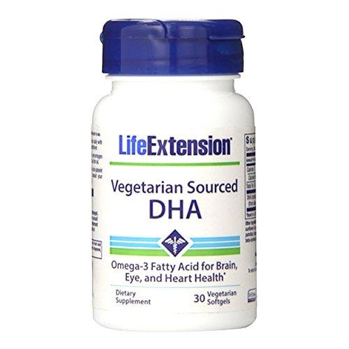 Softgels Vegetarian 30 (Life Extension Vegetarian Sourced DHA Soft Gels, 30 Count)