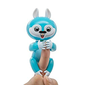 Onlier Interactive Finger Baby Squirrel Toy Pet Best Christmas Gift Toy for Children(Blue)