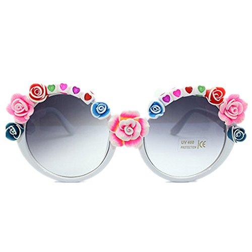 Mano Mujeres de Ligero Playa de Gafas para Hecha Sol Las Vacaciones de de de Rosa a Ultra la Sol Verano de señora corazón y Las conducción Sol de protección Flor la Romántica Gafas de UV Gafas de S0wqT1c6td