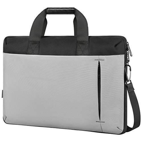 17.3 Inch Laptop Case, Slim Laptop Bag for Men Women, Business Shoulder Carrying Bags Fit 17.3 17 15.6 Inches Laptops Notebook, Laptop Sleeve for College School Office Casual Travel Trip, Gray