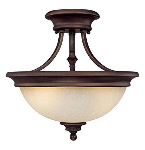 Burnished Bronze Belmont 2 Light Semi-Flush Ceiling - Light Belmont 2