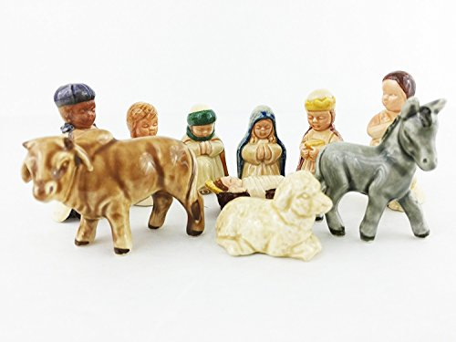 Goebel West Germany Nativity Collection Figurines, Ceramic 10 Piece Set