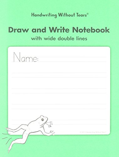 Handwriting Without Tears DAW Double Line Wide Draw and Write Notebook