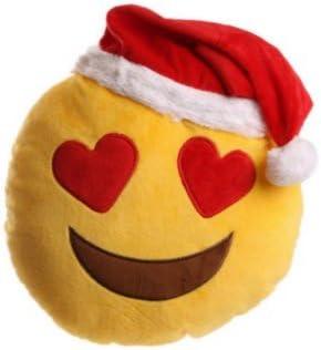 Coussin Emoticone Noel Emoji Pere Noel Amoureux Amazon Fr Cuisine Maison
