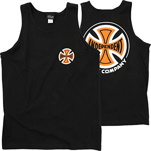 (Independent Skateboard Trucks 2 Color TC Tank Top - Black - SM)