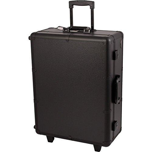 Black Studio Makeup Case w/LED Lights and 4 Legs - C6011 - 17.25' 1 Light