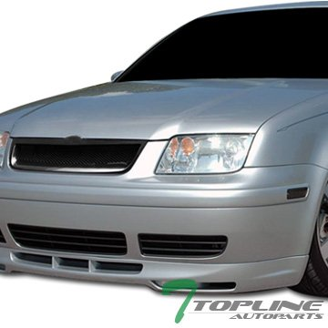 Topline Autopart Black Aluminum Mesh Front Hood Bumper Grill Grille ABS For 99-05 Volkswagen Jetta/Bora MK4 - Billet Grille Light Kit