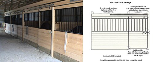 Country Manufacturing PS12GF 12ft Horse Stall Front Kit Black Enamel Coated Steel by Country Manufacturing (Image #1)