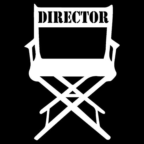 10.7X15.3CM Movie Director Chair Vinyl Decal Black/Silver Car Sticker Personality Car-Styling S8-0546 Silver