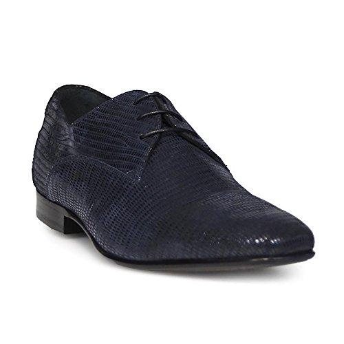 Carlo Pignatelli Mannen 8872blue Blauw Leder Veterschoenen