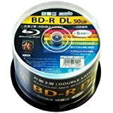 HI-DISC 6倍速対応BD-R DL 50枚パック 50GB ホワイトプリンタブルハイディスク HDBDRDL260RP50