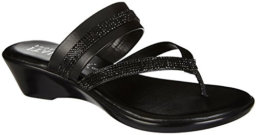 ITALIAN Shoemakers Womens Twist 2 Sandals 7.5 (Womens Black Italian)