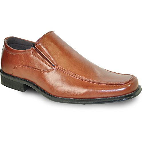 bravo! Men Dress Shoe Monaco Classic Loafer with Square Toe and Leather Lining ()
