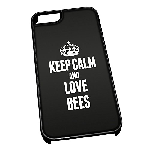 Nero cover per iPhone 5/5S 2394nero Keep Calm and Love Bees