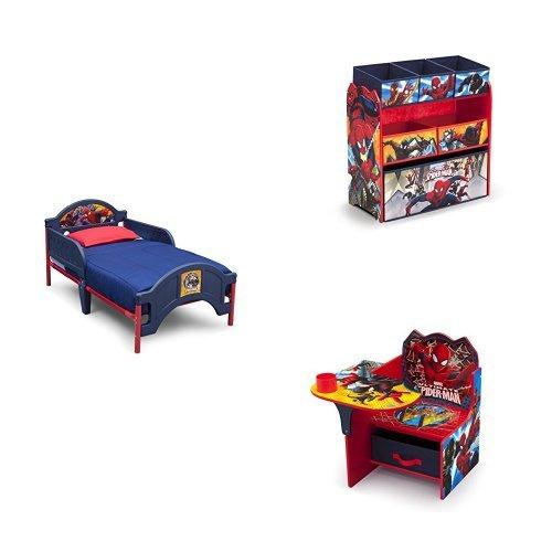 Marvel Spider-Man 3-Piece Toddler Bedroom - Spiderman Bed Toddler