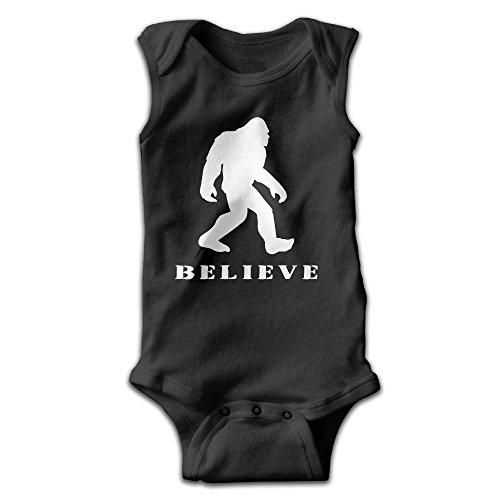 Bigfoot Sasquatch I Believe Unisex-Baby Sleeveless Bodysuit 100% Cotton Bodysuit Onesies 18 (Sasquatch Suit)