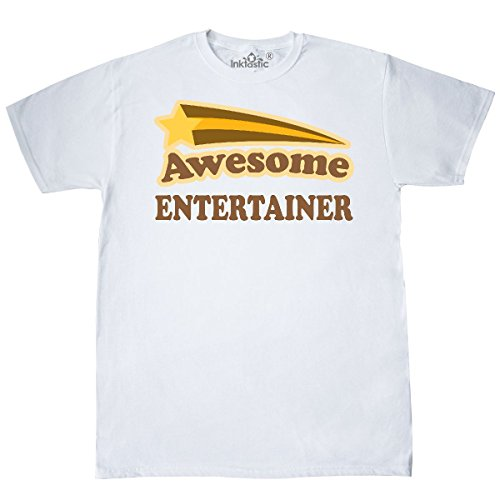 inktastic - Vintage Entertainer T-Shirt Medium White 1b6a3 (Entertainer Mens T-shirt)