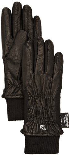 SSG Pro Show Leather Winter Riding Gloves Ladies B/7 Black