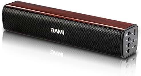 Wireless Bluetooth Speaker, Sonfan Portable Soundbar 3D Surround Compatible with Smartphones Tablets etc (New version)