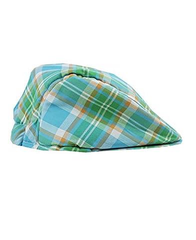 RuggedButts® Infant / Toddler Boys Plaid Drivers Cap - Blue/Green/Orange - 0-6m - Striped Seersucker Cap