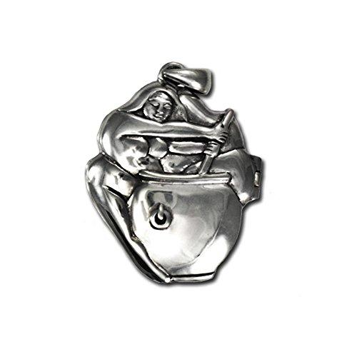 Sterling Silver Goddess Cerridwen Aromatherapy Locket