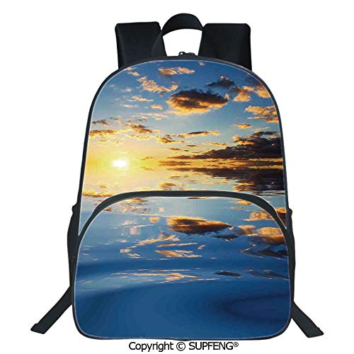 - SCOXIXI Laptop Backpack Last Sunbeams of The Day Scenery Romantic Dreamy Tropical Vacation (15.75